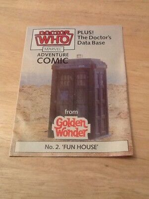DOCTOR WHO GOLDEN WONDER MARVEL ADVENTURE COMICS No.2 of 6 1986
