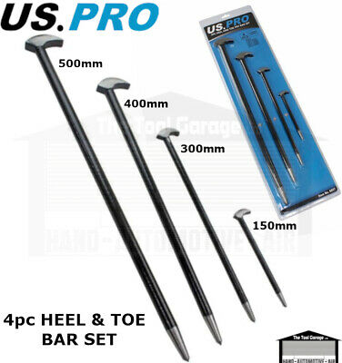 US PRO Tools 4pc Heel Bar Set Podgers Pry Bars Toe 150, 300, 400, 500mm NEW 6857