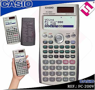 Calculatrice Financier Casio Fc200V Université Scientifique Technique Original