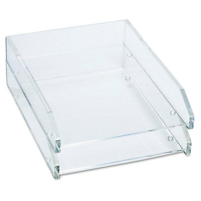 Double Letter Tray Two Tier Acrylic Clear