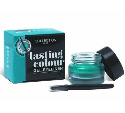 Collection 2000 Lasting Colour Gel Eyeliner with Brush 4g Teal - NEW