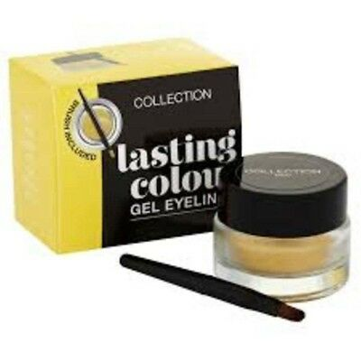 Collection 2000 Lasting Colour Gel Eyeliner with Brush 4g Gold - NEW