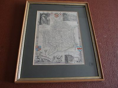 Original Antique Map of Monmouthshire by Thos. Moule c.1850