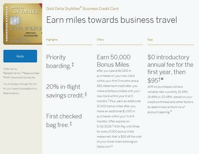Amex gold delta skymiles credit card referral 60000 bonus miles50 amex gold delta skymiles business credit card referral 60000 bonus miles colourmoves