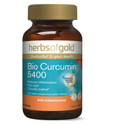 Bio Curcumin 5400 by Herbs of Gold 60 tabs