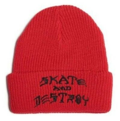 Thrasher Skate Beanie S.a.d Embroided - Red