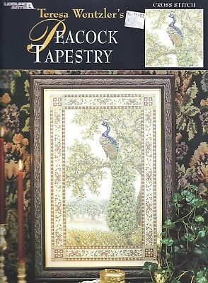 Teresa Wentzler PEACOCK TAPESTRY Cross Stitch Pattern Chart Book