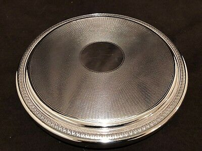 """Christofle Malmaison 9 1/2"""" Large Round Trivet Footed France Silver Plate #A"""