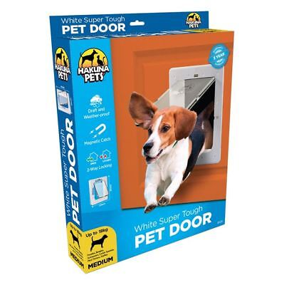Pet Door Medium - Cat & Dog - Hakuna - 2 Way Flap & Lock - 225mm x 290mm Opening