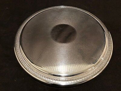 """Christofle Malmaison 9 1/2"""" Large Round Trivet Footed France Silver Plate #B"""