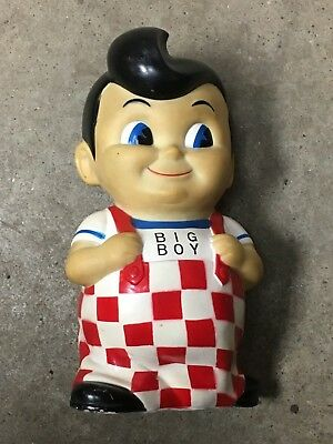 "Vintage BOBs BIG BOY Burger Advertising 8"" Toy Rubber Still Coin Piggy Bank"