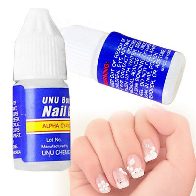 5pcs 3g Pro Clear Glue Adhesive Foil Sticker-Nail Art Transfer-Tips Finger Nails