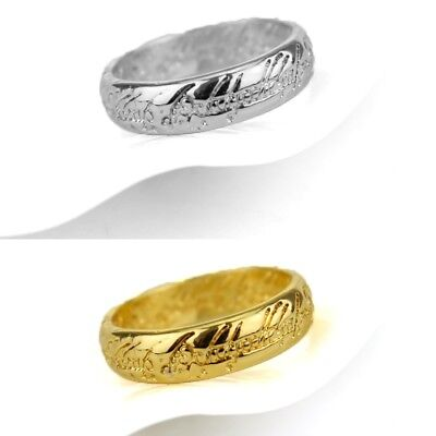 NEW Hobbit Lord of the Ring Silver Gold Ring Band Wrap Rings Jewelry LOTR Gift