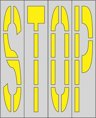 "Walmart stencils for parking lot (1/8"" LDPE)96 in STOP  Individual Letters"