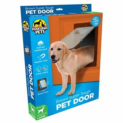 Pet Door Large - Cat & Dog - Hakuna - 2 Way Flap & Lock - 295mm x 425mm Opening