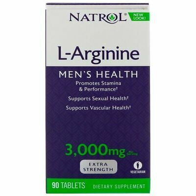 BEST PRICE Natrol L-Arginine 3000mg 90 Tablets - EXTRA STRENGTH NITRIC OXIDE NEW
