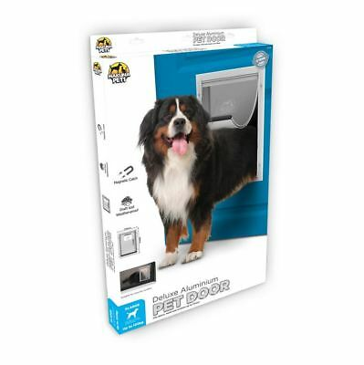 Pet Door Extra Large - Cat & Dog - 2 Way Flap & Lock - 370mm x 595mm Opening