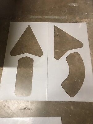 "42"" Arrow Kit for Parking Lot Stencils.1 straight & 1 turn,Thick plastic (1/8"")"