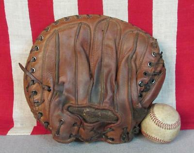 Vintage 40s MacGregor Goldsmith Leather Baseball Glove Catchers Mitt Babe Phelps
