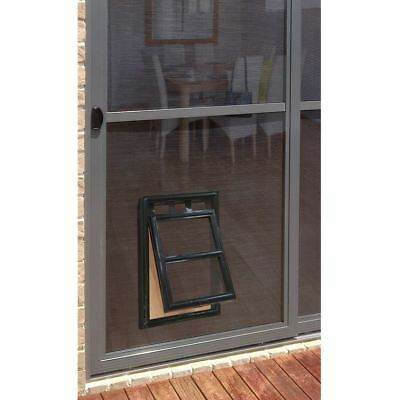 Flyscreen Pet Door - Medium - Pillar Products - 202mm x 254mm Opening - Black