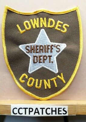 Lowndes County, Mississippi Sheriff (Police) Shoulder Patch Ms