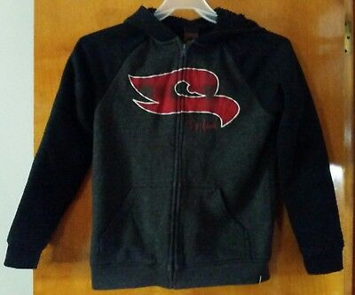 boys gently used Tony Hawk red & black fleece lined hoodie size Large