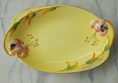 Royal Winton Grimwades Yellow TIGER LILY Serving Dish 1940's Rare