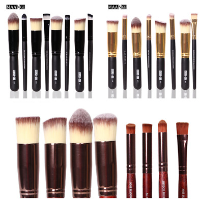 MAANGE Pro Women Cosmetic Tool Kit Wood Handle Soft Makeup Eye Face Brush Set
