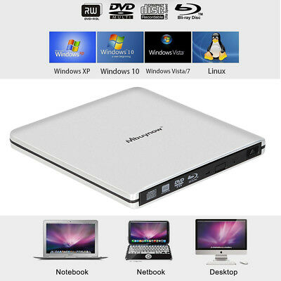 Externe Blu-Ray Player ODD HDD Brenner Laufwerk Superdrive USB3.0 für PC Laptop