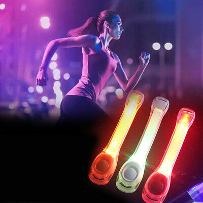 Reflective Safety Belt Arm Strap Night Outdoor Cycling Running LED Armband Light