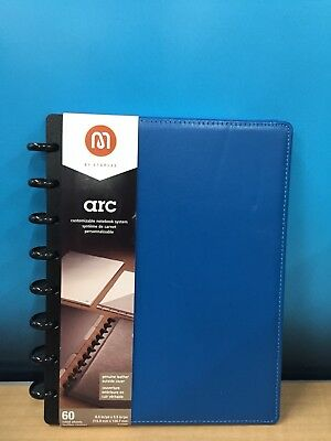 M By Staples ARC Customizable Notebook System, Blue, Measures 8.5 x 5.5in, 20874