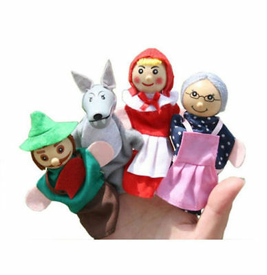 Little Red Riding Hood Finger Puppets Set Story Telling Nursery Rhyme Fairy tale