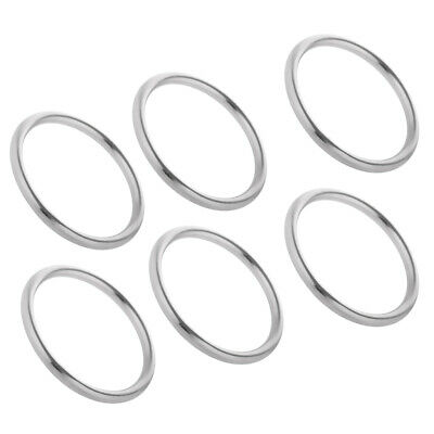 6pcs Seamless Construction Stainless Steel O Ring Boat Anchorage Hardware
