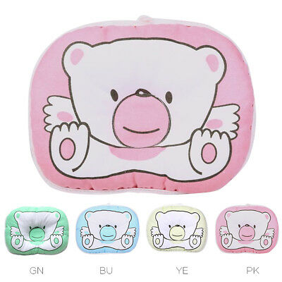 Infant Baby Toddler Cotton Anti Roll Pillow Sleep Flat Head Positioner Cushion