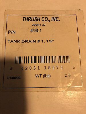 """Thrush Co. Tank Drain Fitting Hydronic Heating System 416-1 Expansion 1/2"""" NOS"""