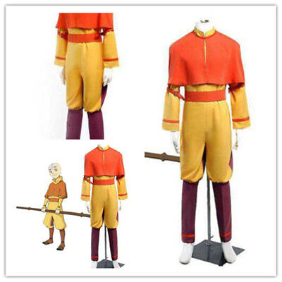 Hot!Custom-made Avatar The Last Airbender Aang Cosplay Costume 12