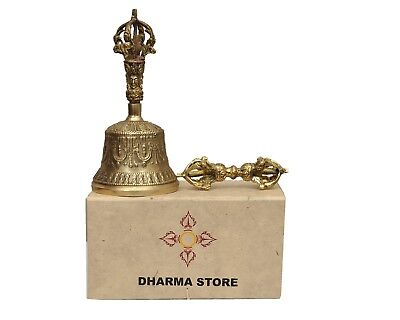 Tibetan Buddhist Meditation Bell and Dorje - Gift box