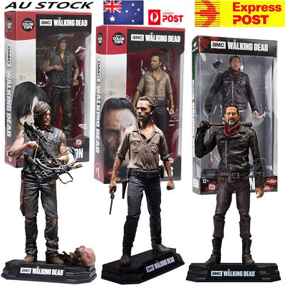 AU The Walking Dead Seasons 8 Daryl Negan Rick Action Figure Toy Boxed Gift 7""