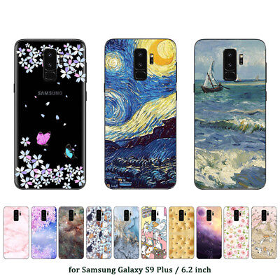 Soft TPU Silicone Case For Samsung Galaxy S9 Plus Phone Back Cover Skins Marble