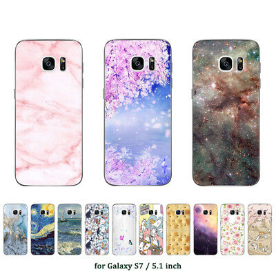 Soft TPU Silicone Case For Samsung Galaxy S7 G9308 Phone Back Cover Skins Marble