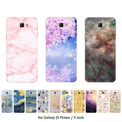 Soft TPU Silicone Case For Samsung Galaxy J5 Prime ON5 2016 Back Covers Marble