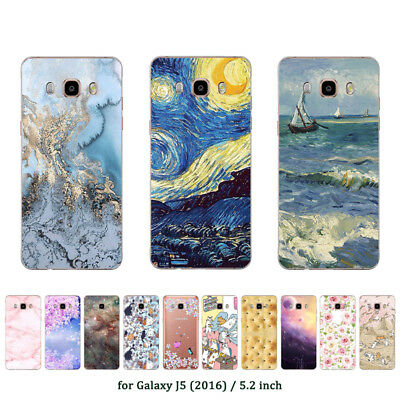 Soft TPU Silicone Case For Samsung Galaxy J5 2016 SM-J510F Back Cover Marble