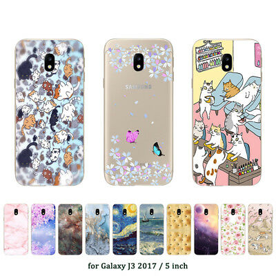 Soft TPU Silicone Case For Samsung Galaxy J3 2017 J330F Back Cover Skin Marble
