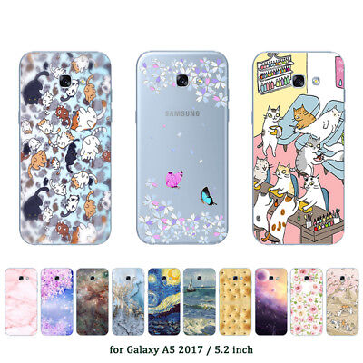 Soft TPU Silicone Case For Samsung Galaxy A5 2017 SM-A520F Back Cover Marble