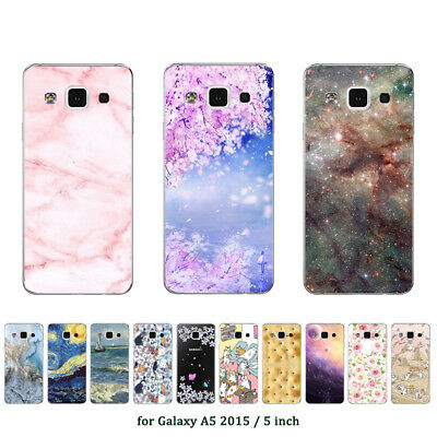 Soft TPU Silicone Case For Samsung Galaxy A5 2015 SM-A500F Back Cover Marble