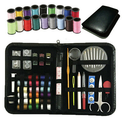 Portable Outdoor Travel Home Campers Sewing Kit with Case Set Supplies Gift