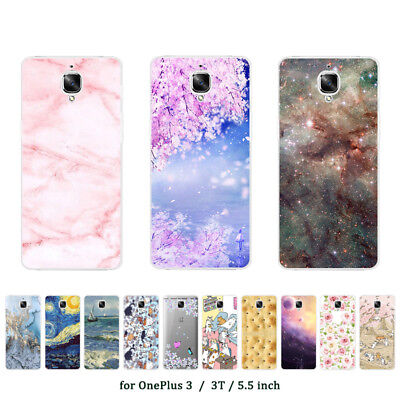 Soft TPU Silicone Case For Oneplus 2 3 3T 5 5T Protective Back Cover Skin Marble