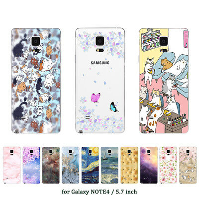 """5.7"""" Soft TPU Silicone Case For Samsung Galaxy Note 4 Back Cover Skins Marble"""