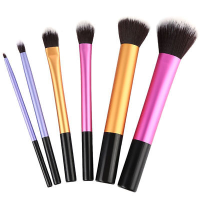 6pc Pro Eyeshadow Brushes Powder Foundation Lip Brush Makeup Cosmetic Set Tool P