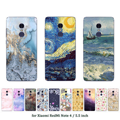 Soft TPU Silicone Case For Xiaomi Redmi Note 4 Phone Back Covers Skins Marble